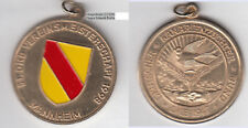 Mannheim Kanarienzucht Vogel Bird Wappen Baden Goldbronzemedaille teillackiert