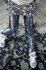 "BONNIE Doon "" Plata Polvo footless"" - Leggings talla 116 -122 Negras Nueva"