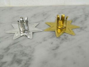"""CHOOSE: Gold & Silver Fairy Star Chime Candle Holder for 4"""" x 1/2"""" Ritual Candle"""