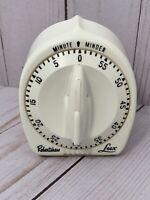 Robertshaw Lux Minute Minder Vintage Kitchen Timer with Atomic Rocket Knob