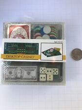 Toysmith Desktop Casino Game Mini Boxed 2004 Craps Poker Cards Set