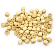 20 perles Cube en bois 8mm couleur Naturel 8 mm perle, bijoux, bracelet