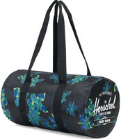 HERSCHEL Supply 2019 Neon Floral PACKABLE Foldable Duffle Bag Holdall Travel GYM