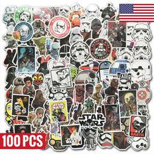 100Pcs Star Wars Vinyl Stickers Graffiti Bomb Decals Pack Skateboard Luggage Car