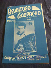 Partition Revoltoso Gaspacho Jo Privat Music Sheet 1960