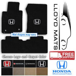 Lloyd Velourtex Carpet 3pc Mat Set for Honda Civic & Insight-Choose Logo & Color