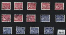 Stamp set #2942 / Postage due / Full Third Reich series / 1940s Used stamps