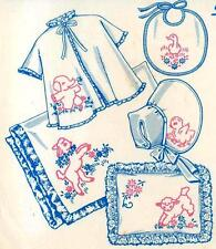 Vintage Embroidery Transfer repo 110 Baby designs Lamb Goose Chicks Elephants