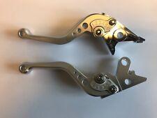 LEXTEK CNC Brake & Clutch Lever Set Stubby Silver Suzuki GSF1200 Bandit 96-00