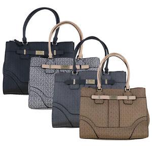 Guess Purse Womens Shoulder Bag Multi Pocket Tote Armbag Logo Acme 644923 New