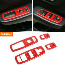 4pcs Window Lift Trim Switch Panel for Dodge Charger 2011-2019 Red Accessories