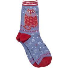 Laurel Burch Socks CRIMSON CAT ~ RED Size 9 -11 Women's Ladies  Footwear