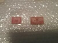 Vintage Postage US #329 1907 Founding of Jamestown & #649 Wright Airplane Stamps