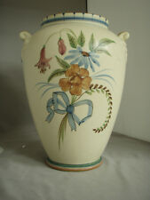 """Weller Bonito Vase, 11"""" tall, decorated both sides, MINT"""