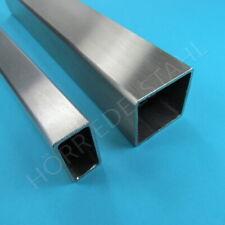 Edelstahl Vierkantrohr Quadratrohr bis 145 cm Kastenprofil Vierkant Rohr K240 VA
