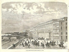NICE HOTEL CHAUVAIN GRAVURE ILLUSTRATION 1863