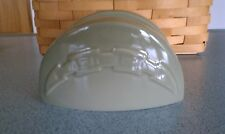 Longaberger Pottery Taco Holder Sage green NEW in box Lots of great uses!