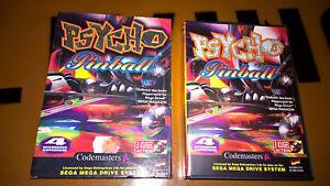 ## Psycho Pinball mit Pappschuber - SEGA Mega Drive / MD Spiel - TOP ##