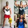Fitness Men's Muscle Gym T-shirt Tank Top Bodybuilding Singlet Fitness Vest