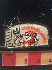 Old Time Phone COMMUNICATIONS Tiger Patch (used/recovered from scout vest) C748