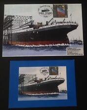 Titanic Stamps Cover Postcard 11/25 90th anniversary 2001 Shipbuilding Belfast