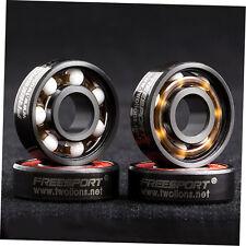 608RS Good Roller Skates Ceramic Ball Inline Skate Bearings Drift Plate LQ