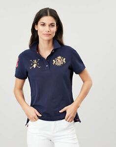 Joules Womens Claredon Ladies Polo Shirt - French Navy - 10