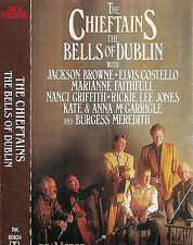 The Chieftains ‎ Bells Of Dublin CASSETTE ALBUM Elvis Costello Nanci Griffiths