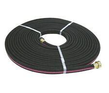 "WESTWARD 50' x 1/2"" dia. Soaker/Sprinkler Hose, Rubber/PVC, 40 psi, Black, 4TMP9"