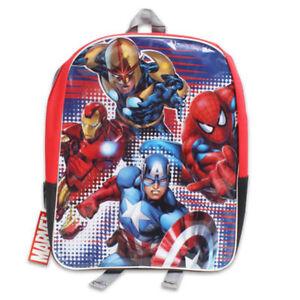 """Backpack 15"""" Marvel Avengers Iron Man Nova Captain America Spider-Man Boy New"""