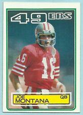 1983 Topps #169 JOE MONTANA San Francisco 49ers