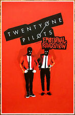 TWENTY ONE PILOTS Emotional Roadshow Tour 2016 Ltd Ed RARE Poster Blurryface 21P