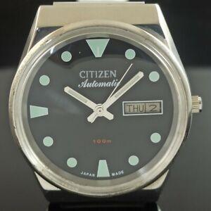 VINTAGE CITIZEN AUTOMATIC 8200 JAPAN MENS DAY/DATE WATCH 432-a236736-9