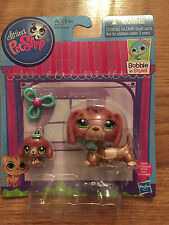 LITTLEST PET SHOP BOBBLE IN STYLE MOMMY DACHSHUND #3601 & BABY DACHSHUND #3602