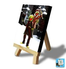 KERMIT CHRISTMAS COLLECTIBLE - Mini Canvas & Easel - Great Gift
