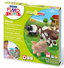 New FIMO Kids Form & Play Set Farm Animals Modelling Jewellery Craft Art Fun