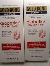 Gold Bond ultimate Diabetic Skin Relief Foot Cream 3.4 oz each (2pks) exp 2019