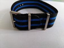 Maurice Lacroix Pontos S , Textilband , blau/schwarz