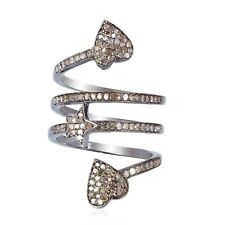 Spiral Ring Halloween Sale Jewelry Pave Diamond Sterling Silver Designer