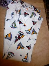 Escada FAB New NWT 12 14 EU 44 stretchy pants Nautical Sail Boats $600 Regatta