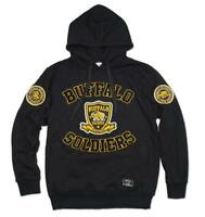 BUFFALO SOLDIER Gold Black Hoodie Jacket US ARMY Pullover Hoody Jacket 1866 MD