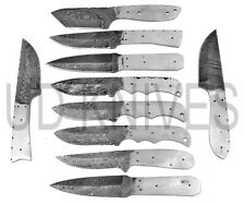 LOT OF 10 |HANDMADE 1095 DAMASCUS STEEL HUNTING KNIFE | BLANK BLADE 8571