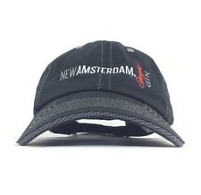 6a8f89e4862 New Amsterdam Straight Gin Embroidered Black Baseball Cap Hat Adj Adult  Cotton