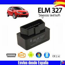 Escaner Coche Maquina DIAGNOSIS ELM 327 BLUETOOTH OBD2 android NEGRO V2.1 + CD