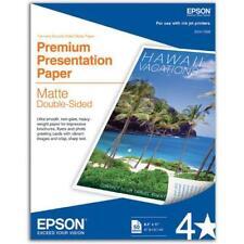 Epson Matte Paper 8.5x11 White Premium Double Sided Presentation Photo 50 Sheets
