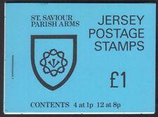 Jersey Postage Stamp Booklet Sachet 1978 SB28 St. Saviour Parish Arms £1 MNH