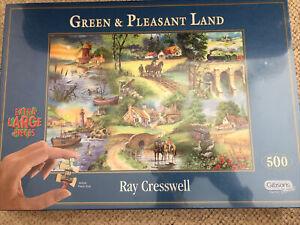 Gibsons BNIB sealed Green & Pleasant Land 500 Piece Jigsaw Puzzle. Bigger Pcs