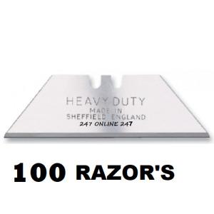 100 Sharpener Heavy Duty Stanley  Blade MADE IN SHEFFIELD