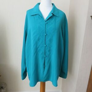 Plus size  Jade Green Tunic/Blouse Top size L Immaculate