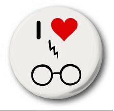 I LOVE HARRY POTTER (PIC)  - 1 inch / 25mm Button Badge - Novelty Cute